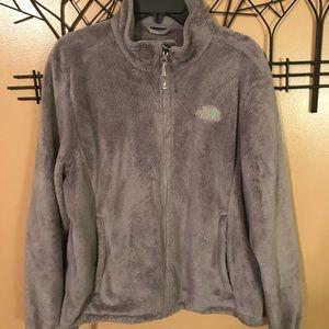 North Face Grey fleece jacket size XL